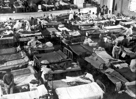 1937年淞沪会时的震旦大学大礼堂战伤兵医院